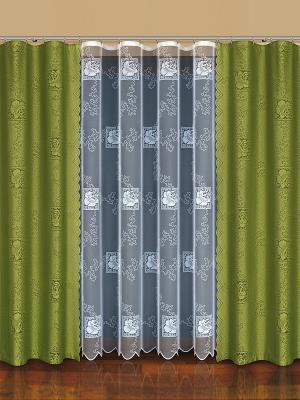Комплект штор Haft. Цвет: белый, оливковый