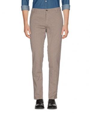 Повседневные брюки YAN SIMMON. Цвет: голубиный серый