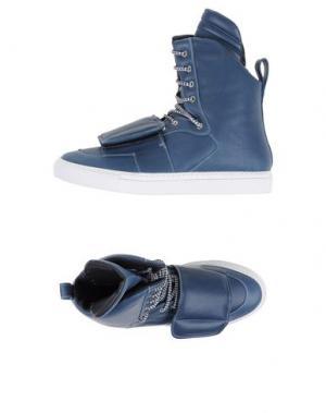Высокие кеды и кроссовки GIULIANO FUJIWARA. Цвет: грифельно-синий