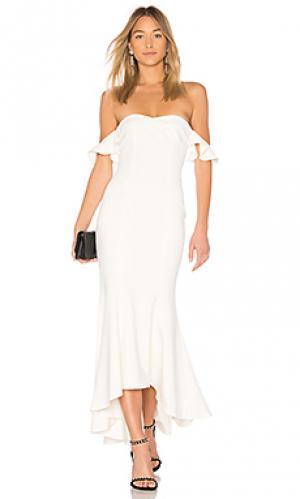 Вечернее платье с открытыми плечами sunset LIKELY. Цвет: ivory
