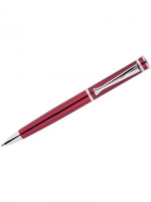 Ручка шариковая Velvet Premium Berlingo. Цвет: бордовый, серебристый, синий