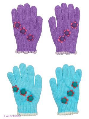 Перчатки FOMAS. Цвет: фиолетовый, голубой