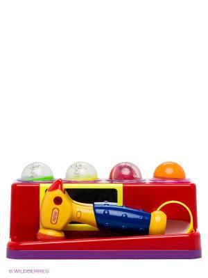 Игра развивающая Забей мячик VELD-CO. Цвет: синий, красный, желтый, светло-зеленый