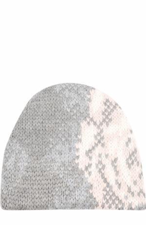 Вязаная шапка из шерсти Tak.Ori. Цвет: серый