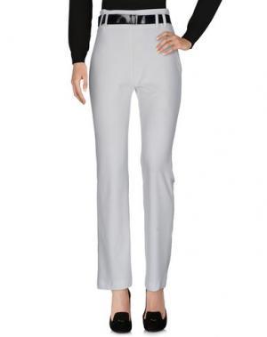 Повседневные брюки NINA AGHEN. Цвет: белый