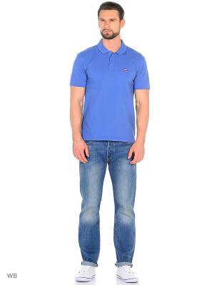 Рубашка-поло Levi's®. Цвет: голубой