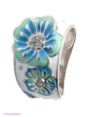 Кольцо SOKOLOV. Цвет: серебристый, голубой