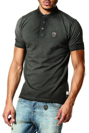 Рубашка-поло 883 Police. Цвет: зеленый