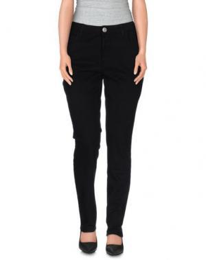 Повседневные брюки BLUE LUXURY. Цвет: черный