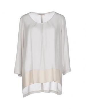 Блузка LA FILERIA. Цвет: светло-серый