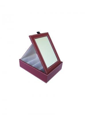 Шкатулка подарочная для хранения очков Germes. Цвет: бордовый