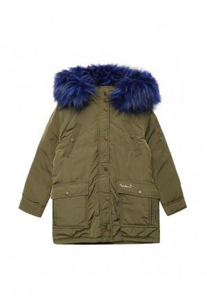 Куртка утепленная Pepe Jeans. Цвет: зеленый