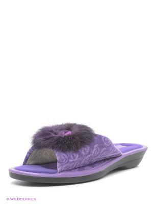 Тапочки Effa. Цвет: фиолетовый