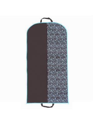 Чехол для одежды Paisley (120х60 см), коричневый Homsu. Цвет: коричневый, голубой