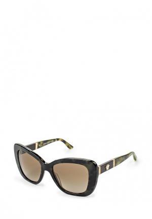 Очки солнцезащитные Versace. Цвет: хаки