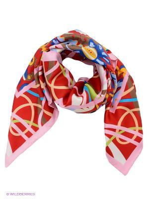 Платок Venera. Цвет: розовый, белый, коричневый, красный