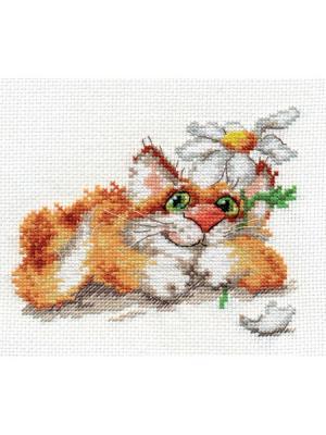 Набор для вышивания Мечтаю  14х13 см. Алиса. Цвет: белый,рыжий,желтый