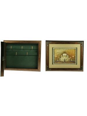 Коллаж-ключница 3D Храм Христа Спасителя Русские подарки. Цвет: коричневый