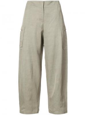 Укороченные брюки Margot Zero + Maria Cornejo. Цвет: телесный