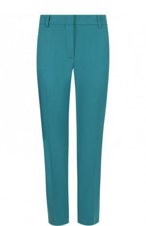 Укороченные шерстяные брюки со стрелками Emilio Pucci. Цвет: зеленый