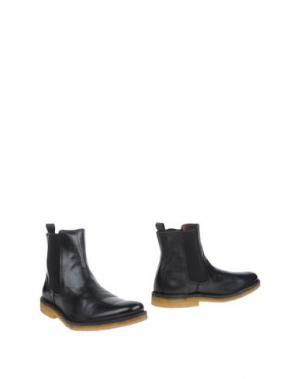 Полусапоги и высокие ботинки NATIONAL STANDARD. Цвет: черный