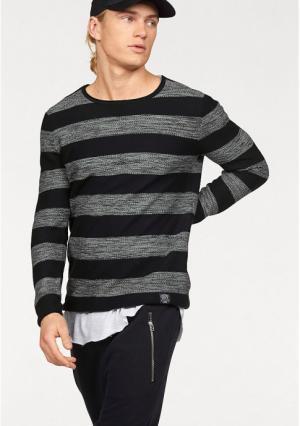 Пуловер JOHN DEVIN. Цвет: темно-синий/синий в полоску, черный/серый/в полоску
