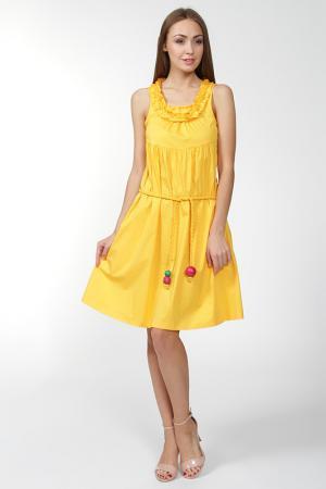 Платье SONIA BY RYKIEL. Цвет: желтый