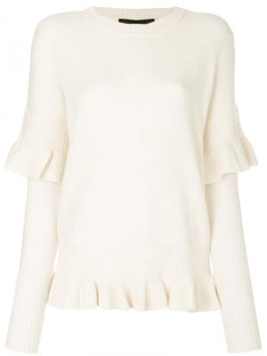 Sydni ruffle sweater Designers Remix. Цвет: телесный