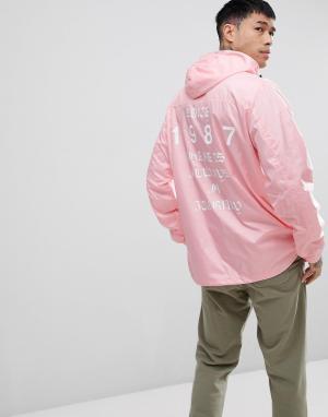 Napapijri Светло-розовая куртка с принтом на спине Aumo. Цвет: розовый