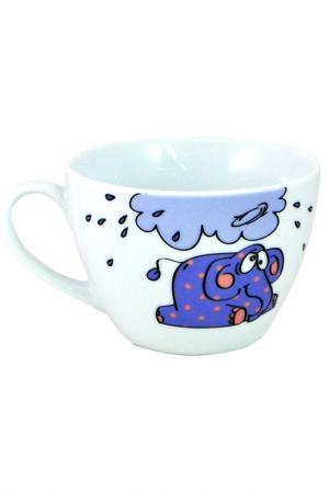 Юмбо-чашка 1 шт. Федерация. Цвет: белый, синий