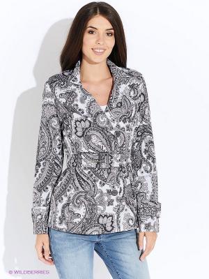 Куртка Oodji. Цвет: серый, розовый