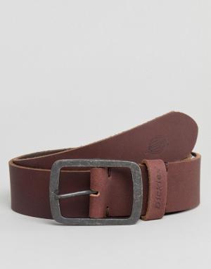 Dickies Коричневый кожаный ремень Eagle Lake. Цвет: коричневый