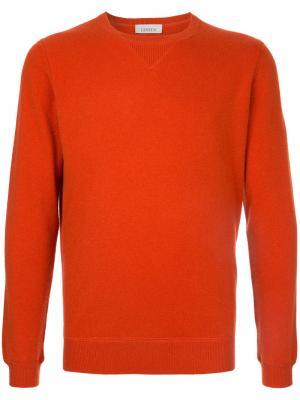 Свитер с круглым вырезом Laneus. Цвет: жёлтый и оранжевый