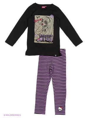 Пижама Monster High. Цвет: черный