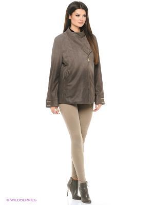 Кожаная куртка MONDIAL. Цвет: серый