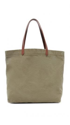 Объемная сумка с короткими ручками из холщовой ткани Madewell