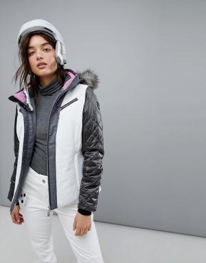 Killtec Лыжная куртка со съемным капюшоном. Цвет: белый