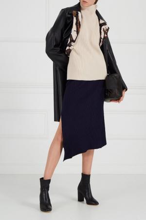 Трикотажная юбка в рубчик Adolfo Dominguez. Цвет: синий