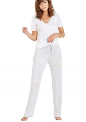 Пижама с брюками Womensecret Women'secret. Цвет: серый