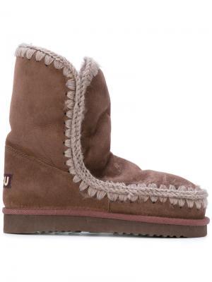 Ботинки Eskimo 24 Mou. Цвет: розовый и фиолетовый