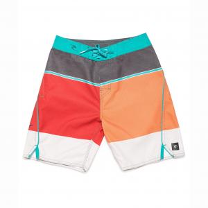 Шорты пляжные в разноцветную полоску 8-16 лет RIP CURL. Цвет: оранжевый