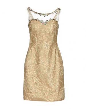 Короткое платье MUSANI COUTURE. Цвет: бежевый