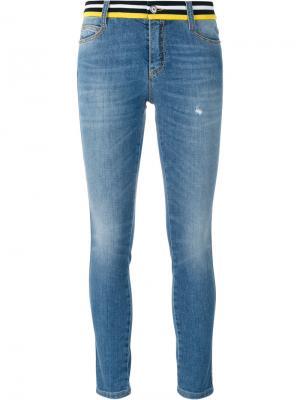 Embellished back skinny jeans Ermanno Scervino. Цвет: синий