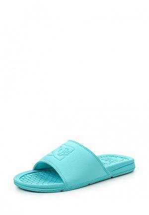 Сланцы DC Shoes. Цвет: бирюзовый