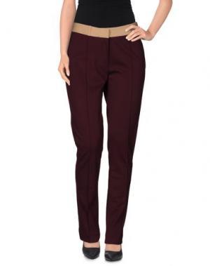 Повседневные брюки INTROPIA. Цвет: баклажанный