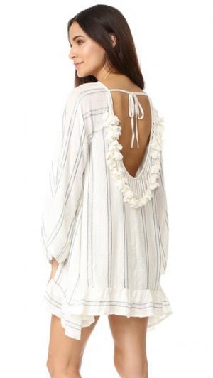 Платье Bobby SUNDRESS. Цвет: белый/серый