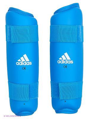 Защита голени PU Shin Guard Adidas. Цвет: синий
