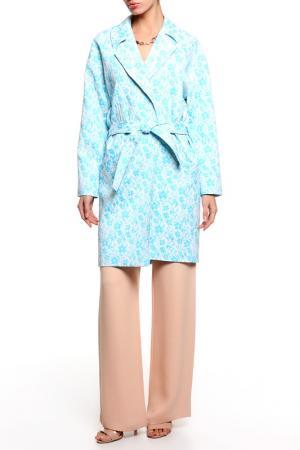 Пальто PRIVATE SUN. Цвет: голубой
