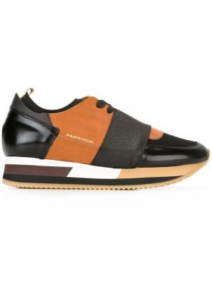 Кроссовки с панельным дизайном Philippe Model. Цвет: чёрный