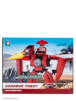 Конструктор Робосамураи - Ездовой робот 1Toy. Цвет: красный